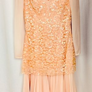 Tadashi Sequin & Lace Dress